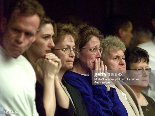 Family and friends of the Junta family reacts as Thomas Junta was found guilty of involuntary manslaughter by the jury for killing Michael Costin in...