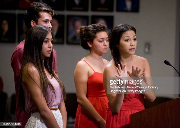 Family and friends of Tyler Macleod speak before the Huntington Beach City Council on Monday night calling for action saying the teen drug problem in...