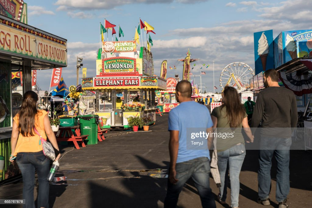 Collier County Fair 2020.Family And Friends Walk The Midway At The Collier County
