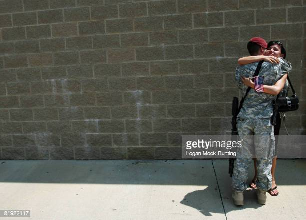 Family and friends welcome approximately 300 Paratroopers from the 82nd Airborne Division's 1st Brigade Combat Team as they return to Fort Bragg July...