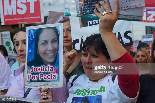 Family and social groups march to demand justice for the killing of one month by Paola Acosta central Cordoba Argentina this afternoon Friday October...