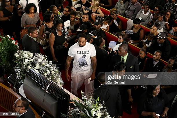 Family and supporters attend the funeral for Corey Jones at the Payne Chapel AME of West Palm Beach Fla on Saturday Oct 31 2015 Jones was shot and...