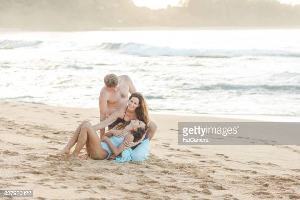 Family art photo at the beach!