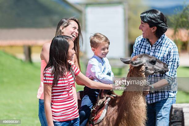 Family at an animal park