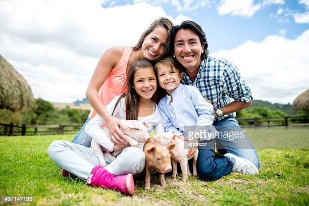 Familia en un animal park