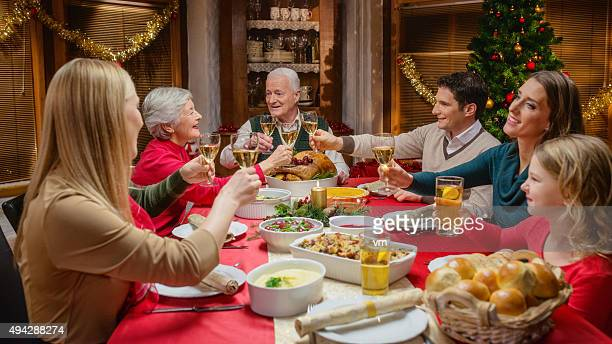 Family at Christmas Dinner