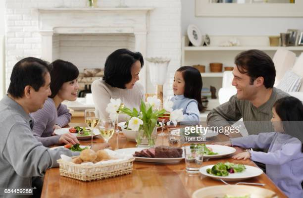 Family at Dining Room Table