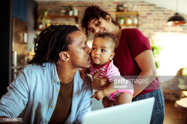family at home - african ethnicity stock pictures, royalty-free photos & images