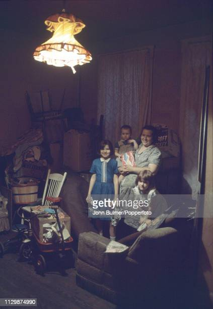 A family at home Pike County Kentucky US 1967