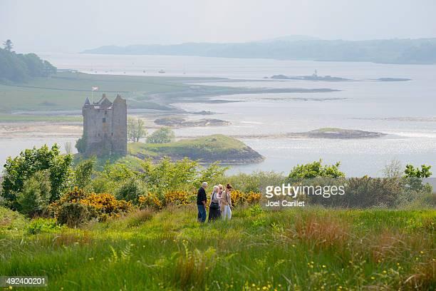 Famille de l'Écosse au Château Stalker