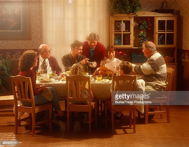 Family at table together