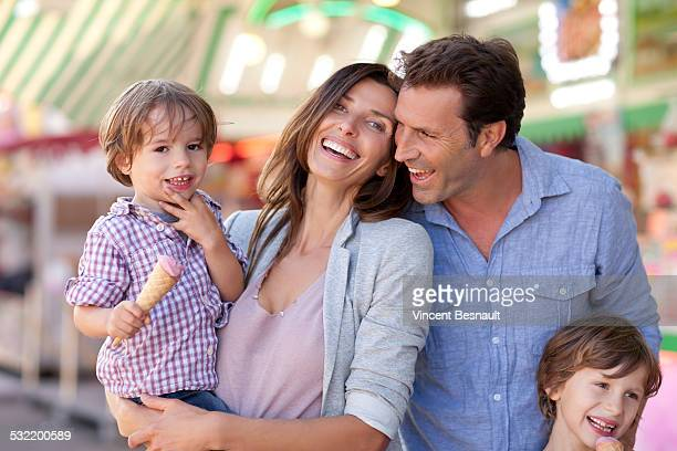 Family at the carnival