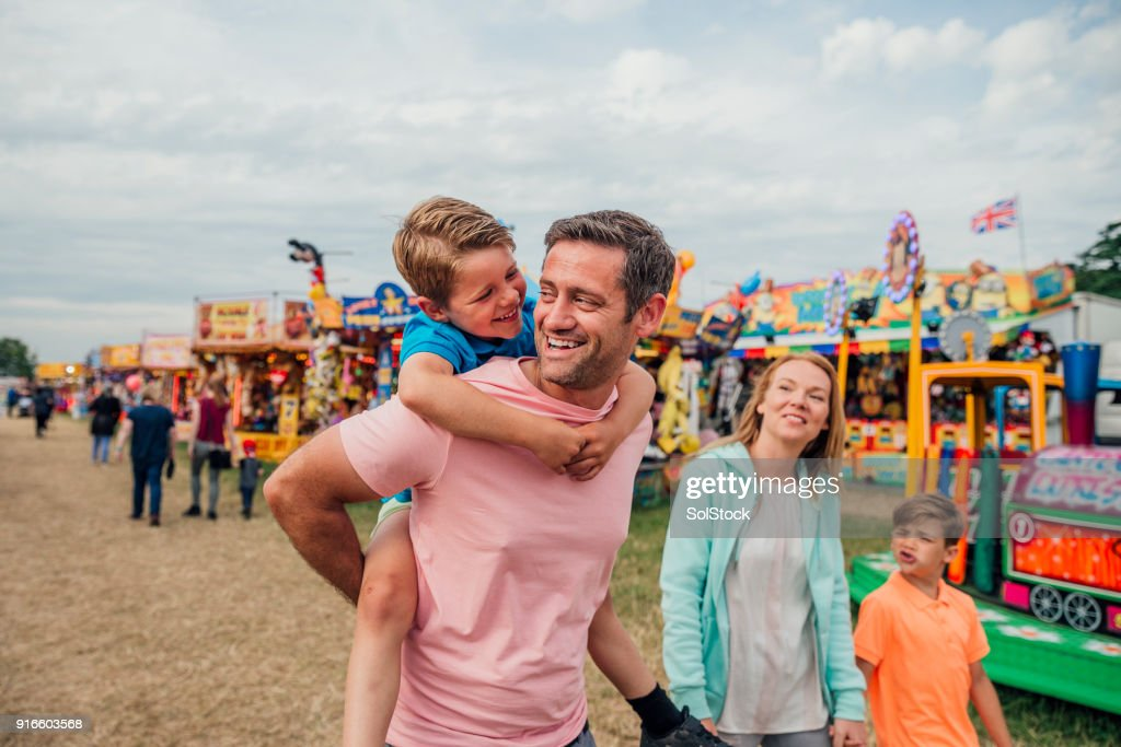 Family at the Fairground : Stock Photo