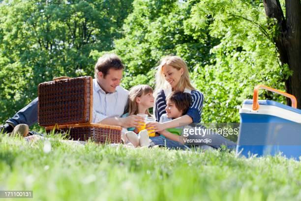 Familia al picnic