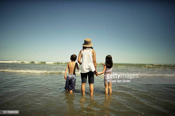 Family at the seaside