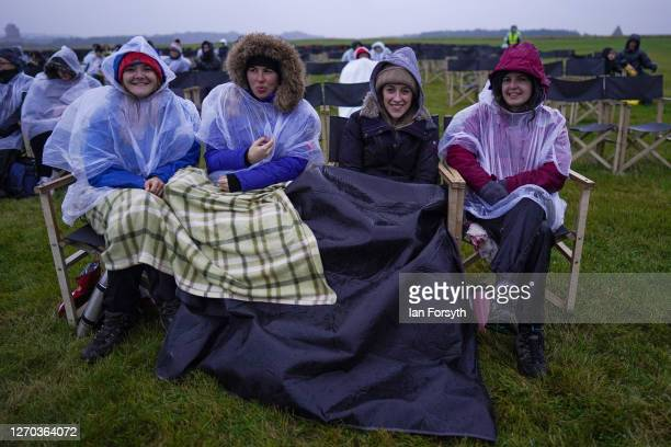 Family attend a screening of The Greatest Showman during the Luna Cinema movie experience at Castle Howard on September 02, 2020 near Malton,...