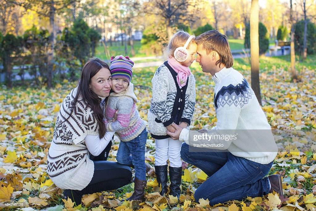 Family autumn vcation : Stock Photo