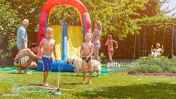 Family back yard party