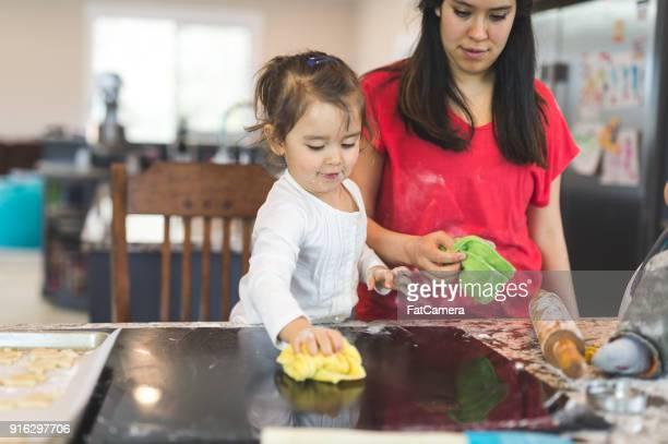Famille, jour de la cuisson!