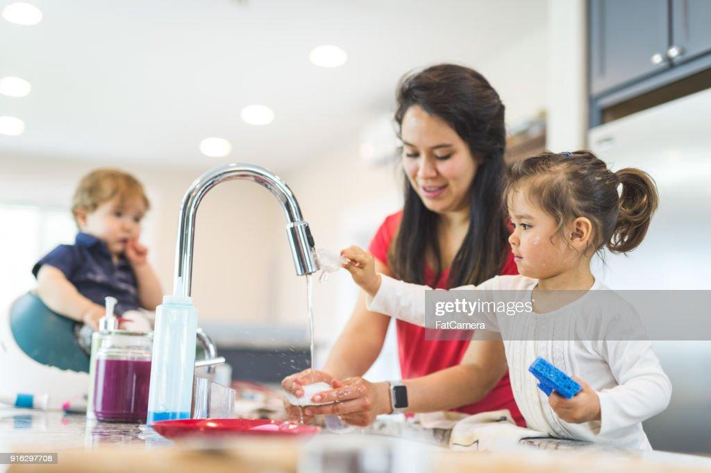 Family Baking Day! : Stock Photo