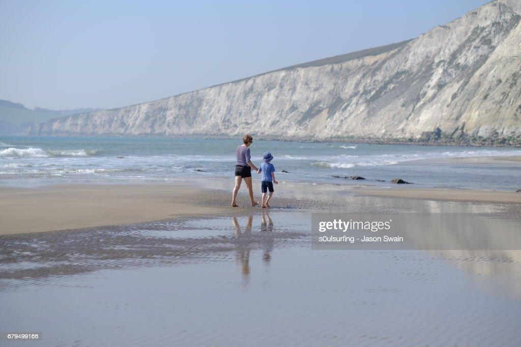 Family beach time : Stock Photo