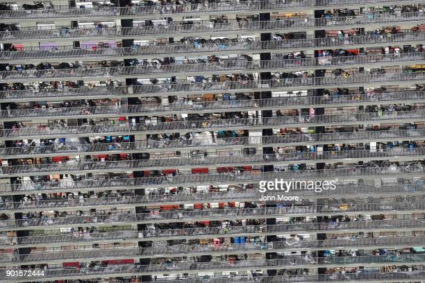Family belongings pack apartment terraces on January 5 2018 in the Bronx Borough of New York City Under frigid temperatures New York City dug out...