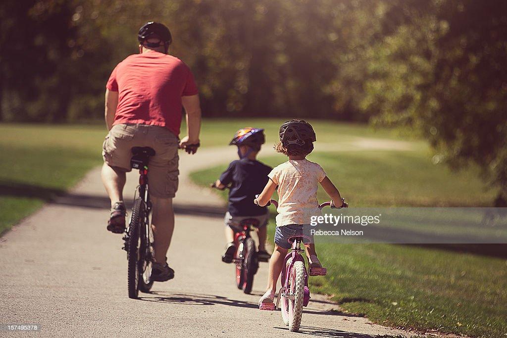 family bike ride : Stock Photo