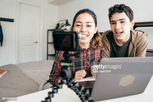 family blogging - multimedia stock photos and pictures