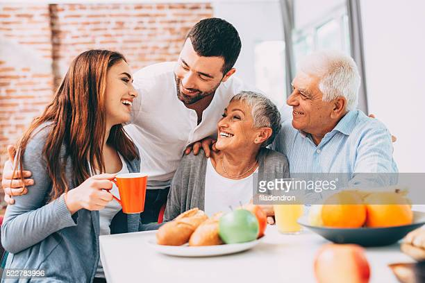 family breakfast - adults only stock pictures, royalty-free photos & images