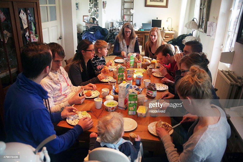 Family brunch : Stock Photo