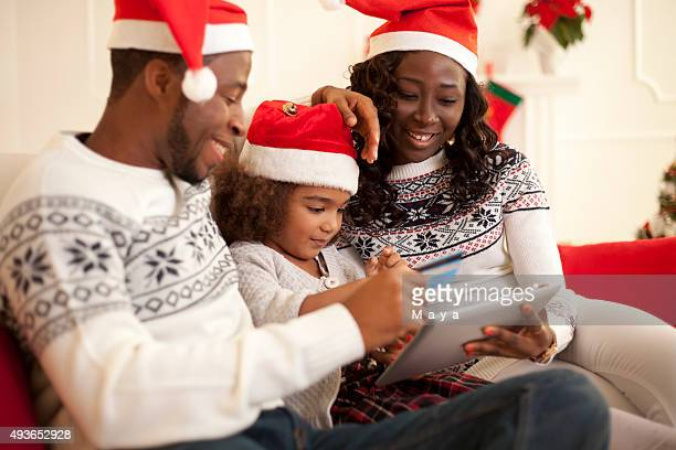 Family buying on internet. Christams time.