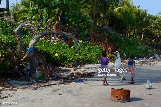 A family by the beach of the town of Puerto Cabezas the capital of the North Caribbean Coast Autonomous Region In Puerto Cabezas 75% of the...