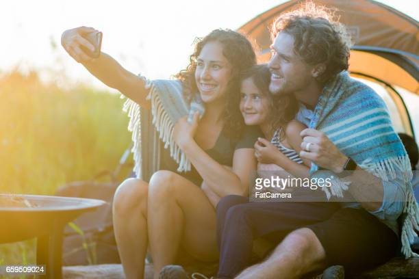 Selfie Camping familial