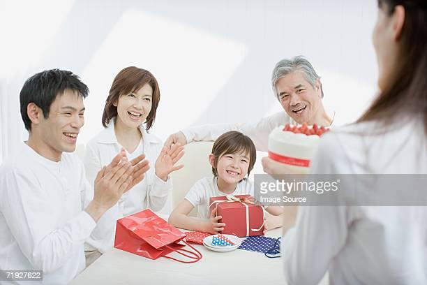 ご家族でのお祝いの誕生日