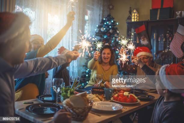 Familjen firar jul för många år tillsammans
