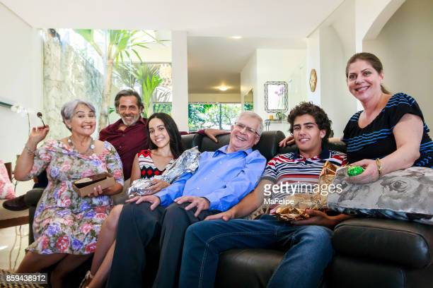 family celebrating easter in brazil - happy resurrection day stock pictures, royalty-free photos & images