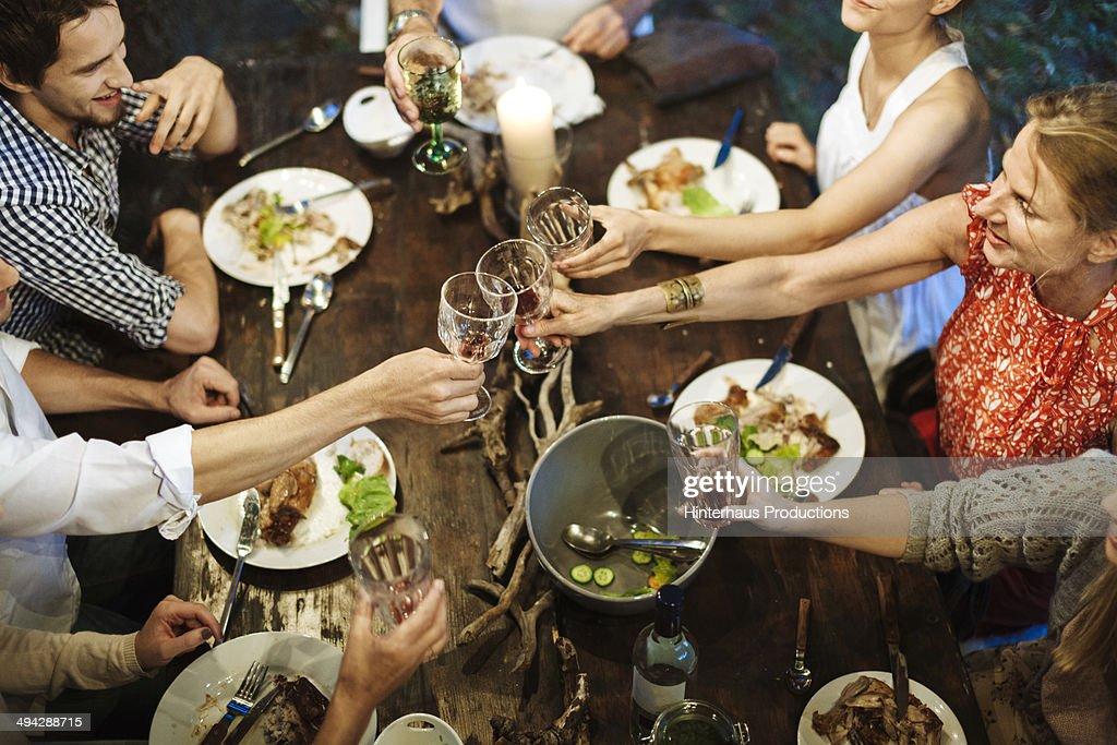 Family Celebrating Garden Party : Stock-Foto