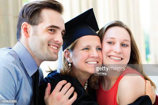 Family Celebrating Mother's Graduation from University Higer Degree Horizontal