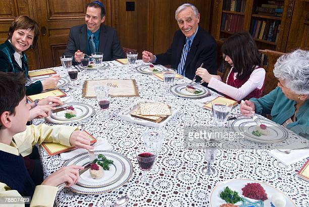 Family Celebrating Passover