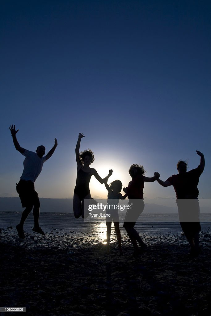 Family Celebration at the Beach : Stock Photo