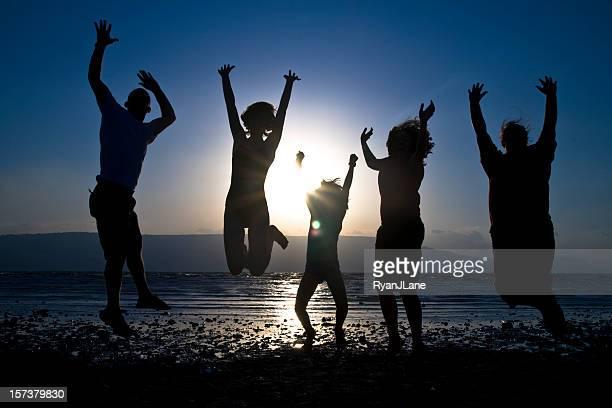 Comemoração familiar na praia