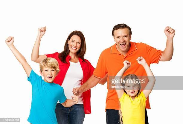 Famille de Tenir fermement soutenir avec poings-isolé