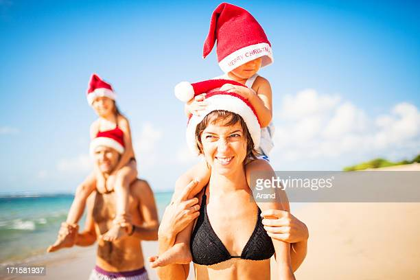 family christmas on a beach