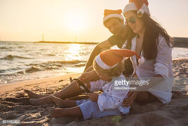 Family Christmas time at the beach