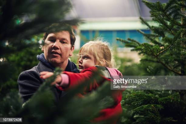 Family Christmas tree shopping