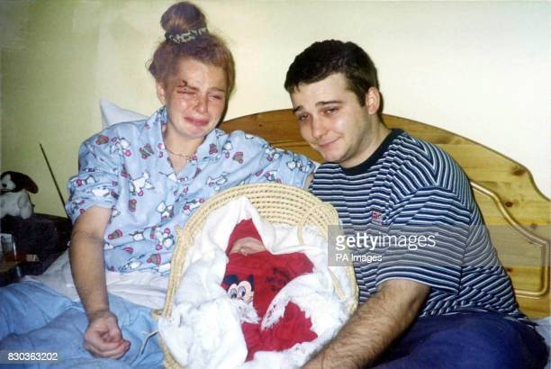 Family collect photo of Sharon Brooke and Stephen Sheridan with body of their dead baby, after Sharon had to go through a three hour labour with a...