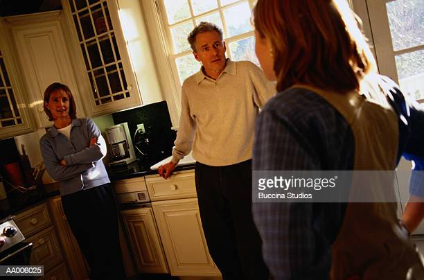 Family Confrontation in the Kitchen