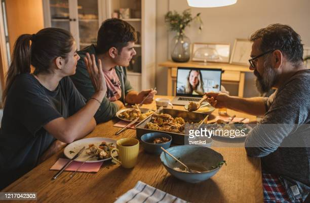 Family diner during isolation