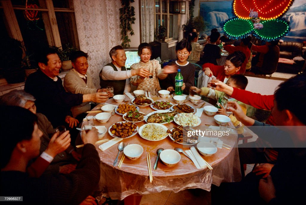 family dinner for the celebration of the chinese new year on february 1999 in heihe - Chinese New Year 1999