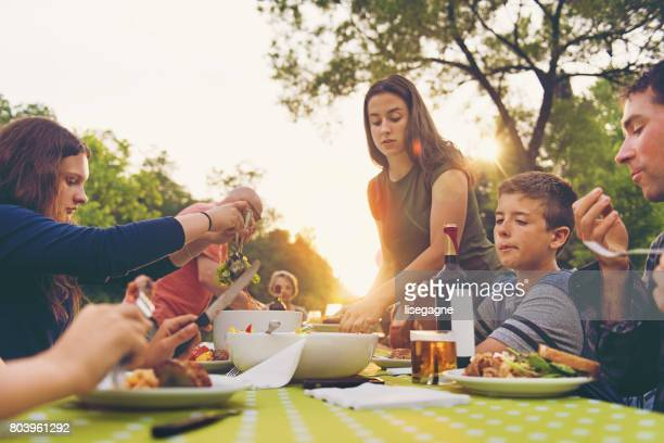 family dinner - banquet stock pictures, royalty-free photos & images